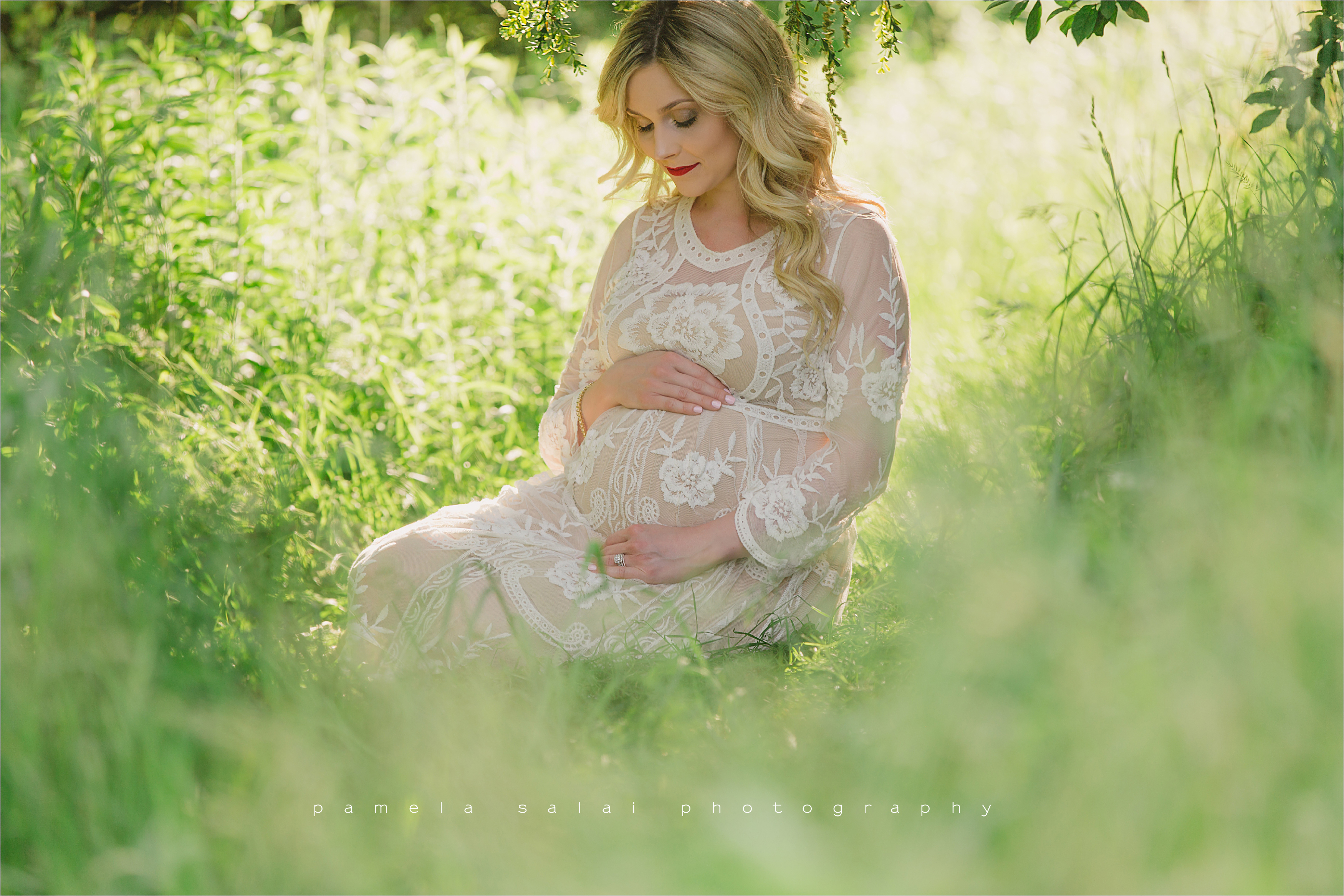 Pittsburgh boho maternity life is a dream lush green film like