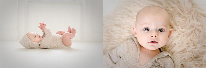 6 month , organic studio session, pure white studio , simple and sweet, boy session milestone