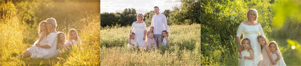 custom styling, wild field, warm light, family photos , Pittsburgh