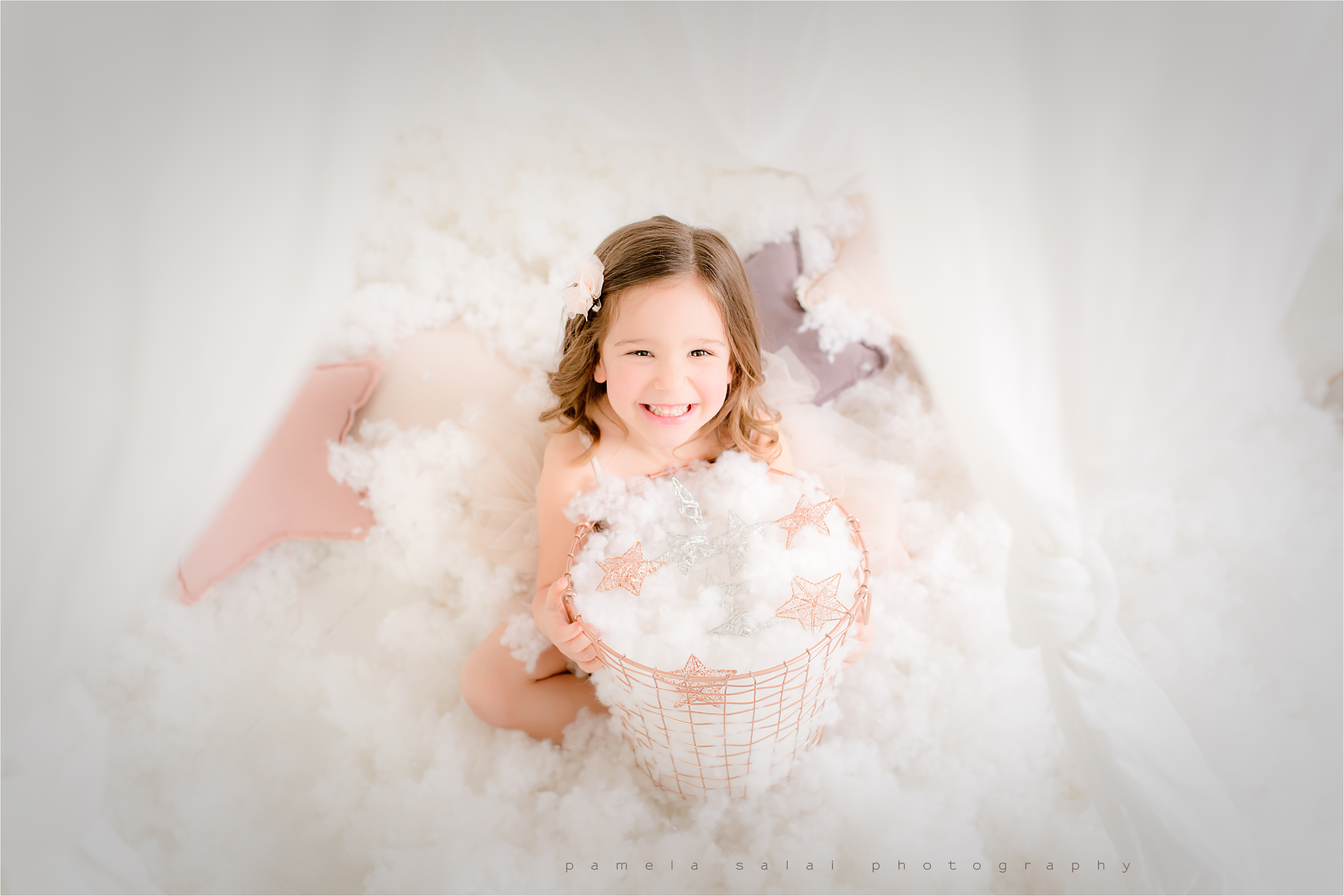 day dream mini sessions pittsburgh pure white studio in the clouds stars and whimsical