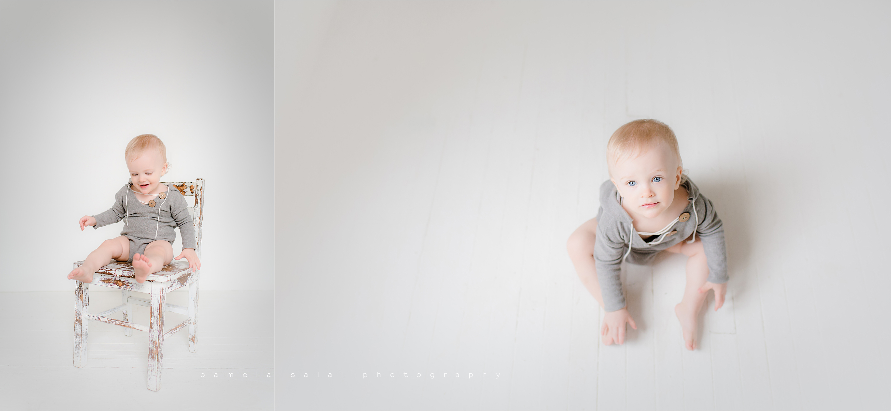 sweet baby boy one white pure studio fun posing organic