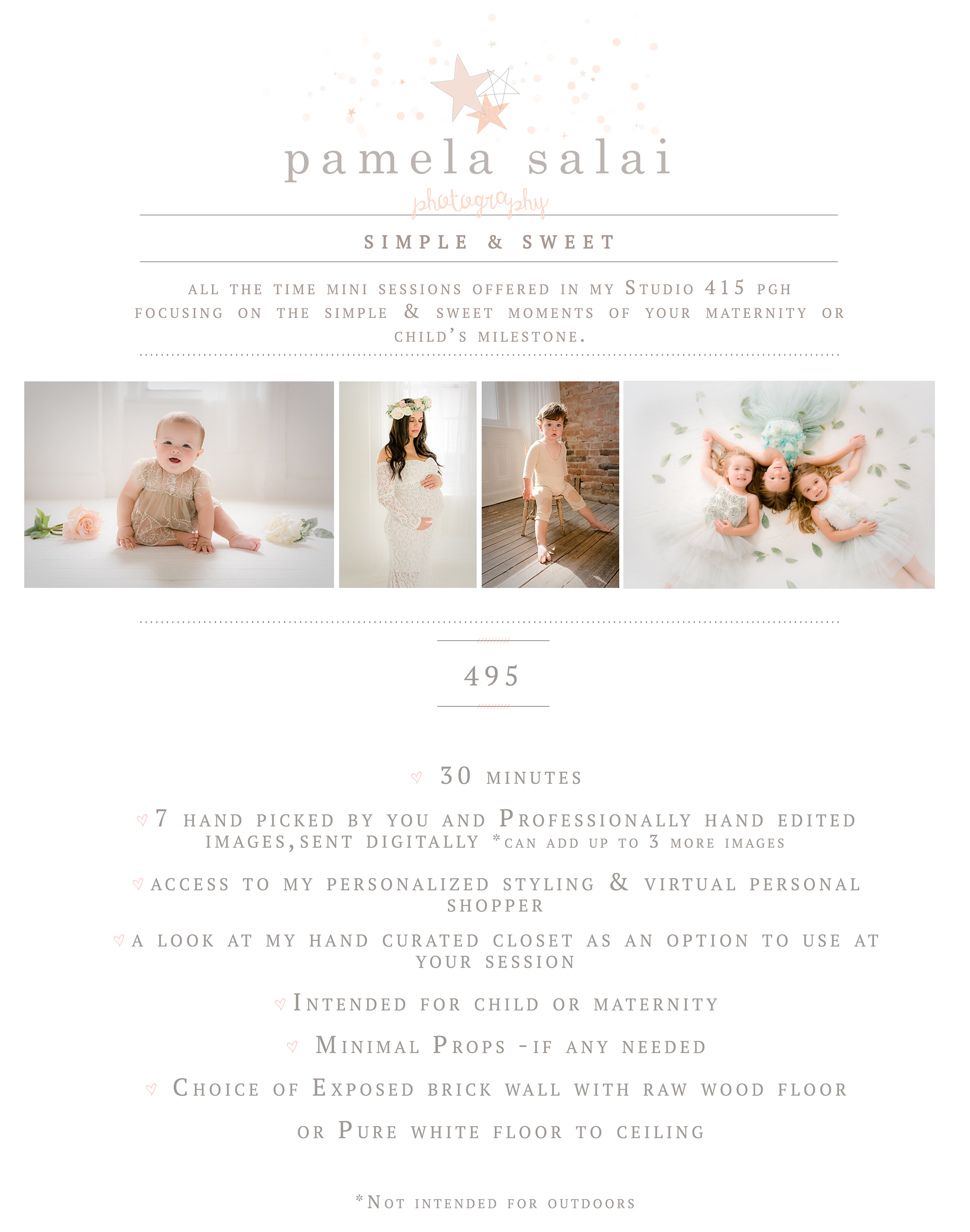 simple and sweet pure white studio sessions child maternity baby