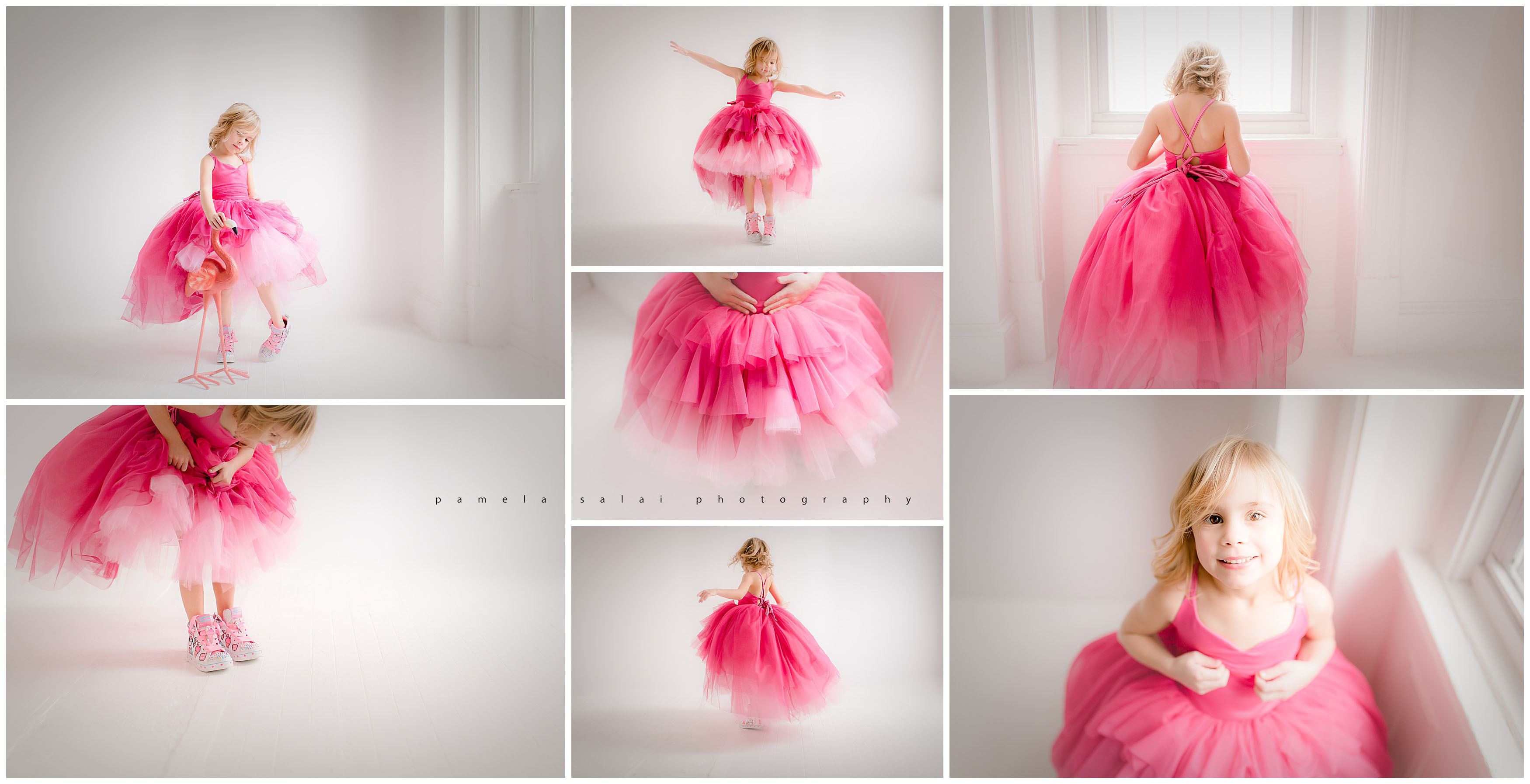 walking pink flamingos Pittsburgh child photographer pamela salai photography