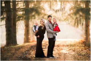 Golden hour family maternity ,film like