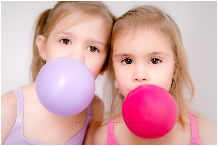 twins, double bubble, commercial photography , editorial photography, cupcake dress, pink, purple, little dreamer tutus