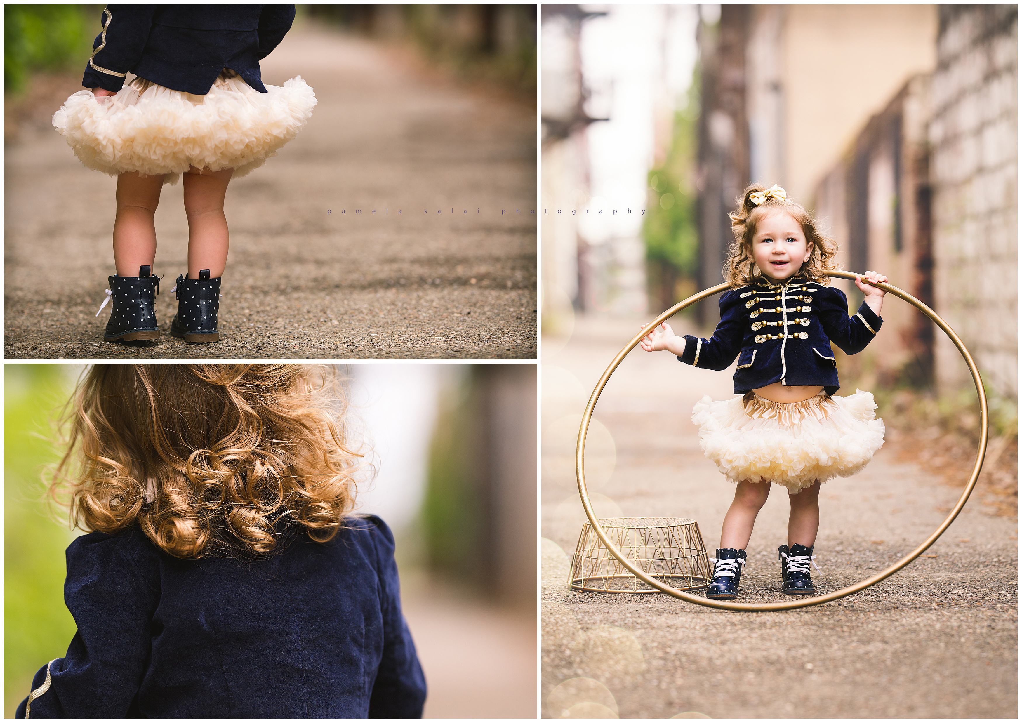 toddler days, life's a circus, military jacket , polka dit shoes,
