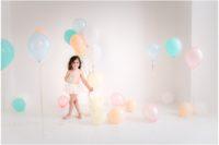 Pastel Rainbow pure white studio