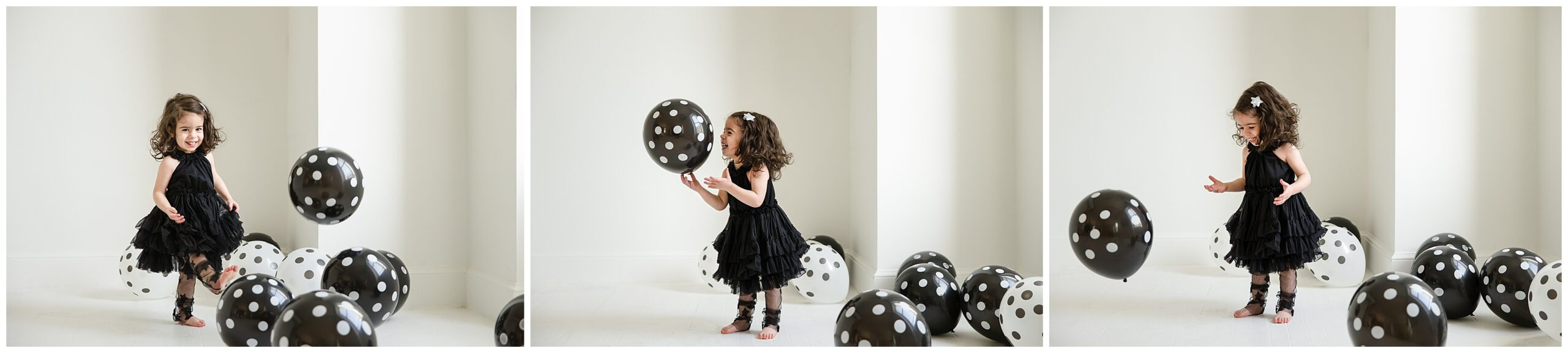 2 Pittsburgh polka dot studio child session