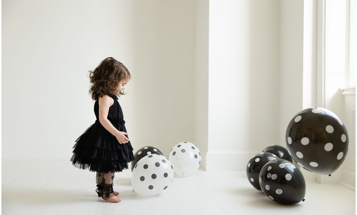 Pittsburgh polka dot studio child session